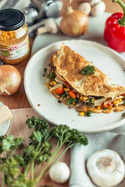 omlet sa povrćem