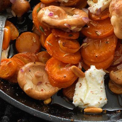 pecena sargarepa sa pecurkama u tiganju