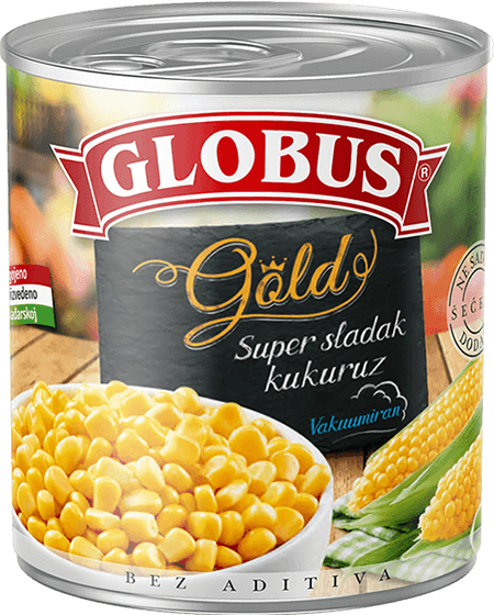 Globus kukuruz Gold u konzervi