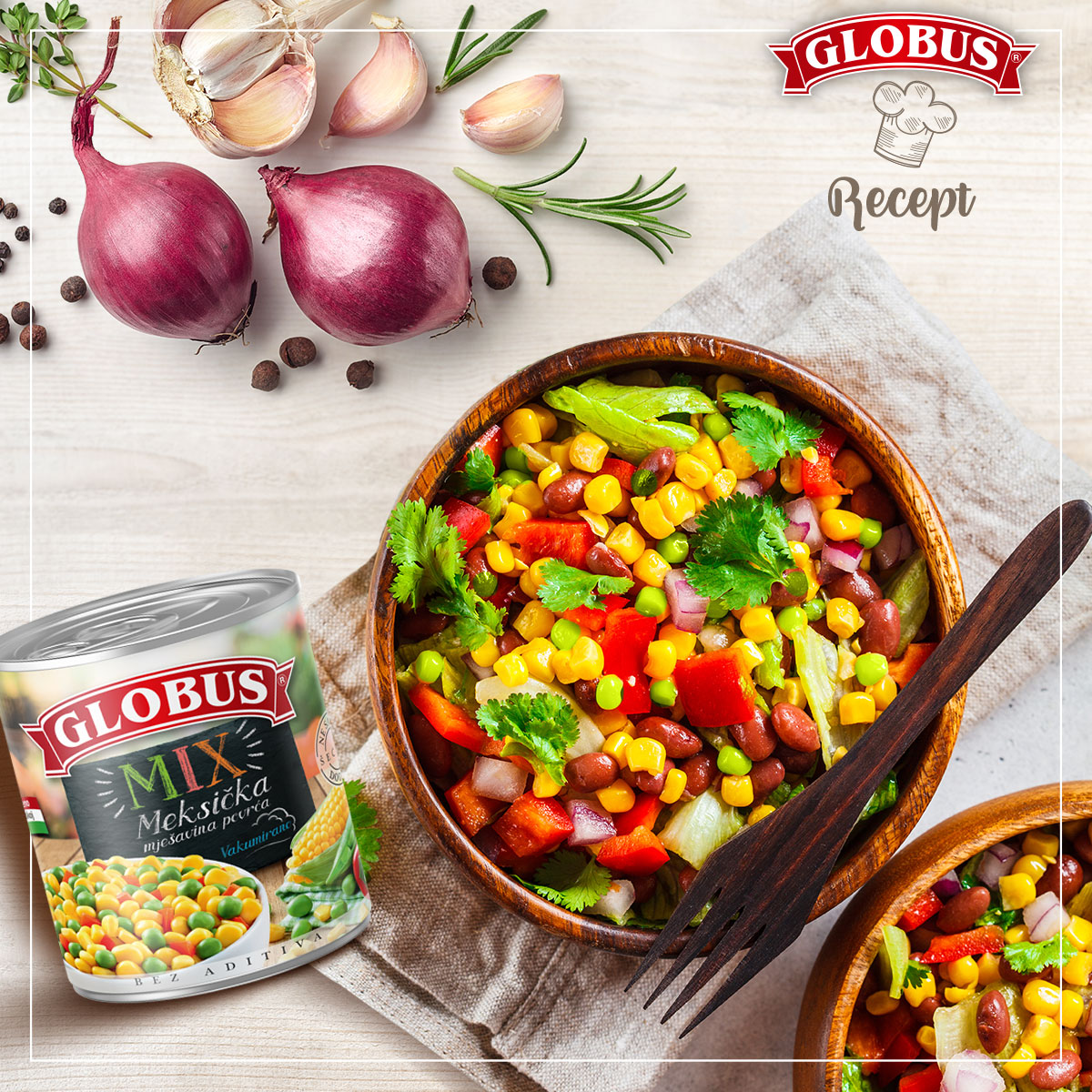 Salata od globus meksičke mešavine